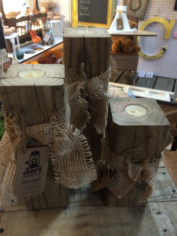 Local Artist Wood Candle Holders