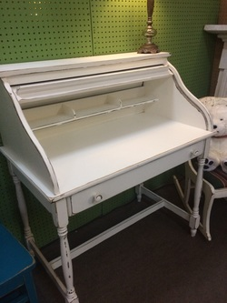 Roll Top Painted Desk