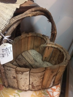 Home Decor - Wood Basket