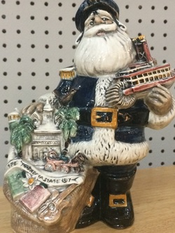 Home Decor - Pottery Santa